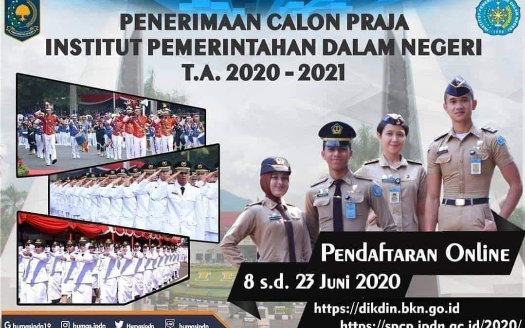 Penerimaan Calon Praja IPDN 2020