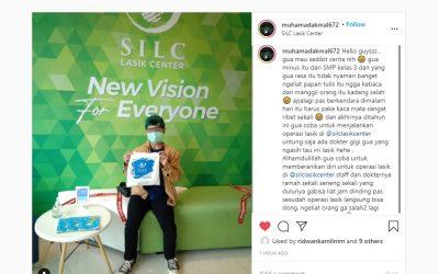 Muhamad Akmal : sesudah operasi lasik langsung bisa dong, ngeliat orang