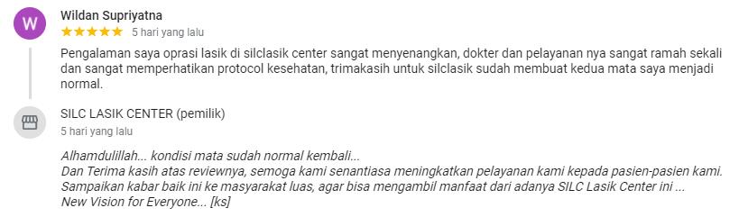 Wildan Supriyatna : Oprasi lasik di silclasik center sangat menyenangkan