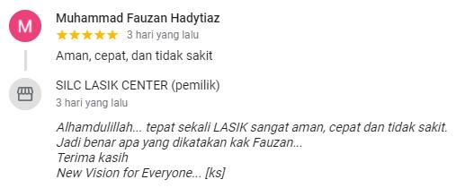 Muhammad Fauzan Hadytiaz : Aman, cepat, dan tidak sakit