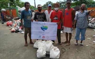 Pembagian Sembako dan Nasi Box untuk Driver Sampah Wilayah Tanah Abang